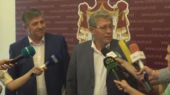 Declarațiile lui Mihai Ghimpu după ședința Curții Constituționale de examinare a sesizării pentru controlul constituționalității a decretului Președintelui Republicii Moldova privind desfășurarea referendumului republican consultativ