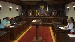 Ședința Curții Constituționale de validare a unui mandat de deputat din partea Partidului Socialiștilor din Republica Moldova