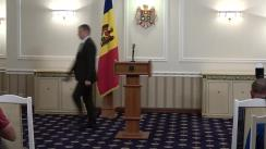 Briefing susținut de Președintele Republicii Moldova, Igor Dodon
