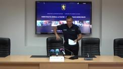 """Briefing susținut de șeful Inspectoratului General al Poliției, Alexandru Pînzari, cu tema """"Asigurarea ordinii publice la protestul din 30 iulie"""""""