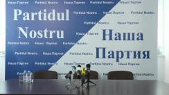 """Conferință de presă cu tema """"Partidul Nostru"""" respinge declarațiile calomnioase și provocatoare ale poliției, care a învinuit """"Partidul Nostru"""" de insulte aduse activiștilor opoziției"""""""