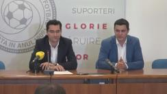 Conferință de presă susținută de Președintele Federației Române de Fotbal, Răzvan Burleanu