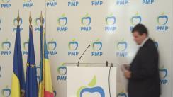 Conferință de presă susținută de Președintele executiv al PMP, Eugen Tomac