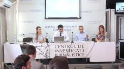 """Ședința Clubului Jurnaliștilor de Investigație cu tema """"Noul proiect al Regulamentului privind publicarea hotărârilor judecătorești și îngrădirea accesului la informație"""""""