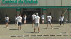 """Flashmob organizat cu ocazia marcării Zilei Internaționale a Tineretului cu mesajul """"Hey, ai grijă de rinichii tăi!"""""""