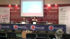 """Conferință de presă organizată de Centrul pentru Jurnalism Independent cu tema """"Elemente de propagandă, manipulare informațională și încălcare a normelor deontologiei jurnalistice în spațiul mediatic autohton"""" (1 iunie 2017 - 1 august 2017)"""