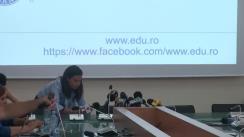 Conferință de presă susținută de Ministrul educației naționale, Liviu Marian Pop, privind stadiul pregătirilor în vederea începerii noului an școlar și proiectele aflate pe agenda Ministerului Educației Naționale