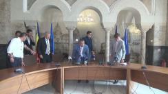 Conferință de presă prilejuită de prezentarea proiectului Academia Rapid București