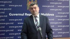 Declarațiile lui Gheorghe Bălan după ședința Guvernului Republicii Moldova din 23 august 2017
