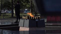 Președintele Republicii Moldova, Igor Dodon, depune flori la Focul Veșnic din cadrul Complexului Memorial Eternitate cu ocazia actelor eroice în cadrul operațiunii Iași-Chișinău
