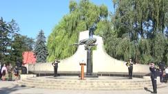 Depuneri de flori, cu participarea ministrului Afacerilor Interne, Alexandru Jizdan, veteranilor de război, a Garzii de Onoare MAI, în contextul marcării a 26 de ani de la proclamarea Independenței Republicii Moldova