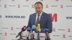 Declarații de presă după ședința Biroului Permanent al Partidului Democrat din Moldova