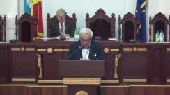 Ședința festivă a Adunării generale AȘM dedicată sărbătorii naționale Ziua Limbii Române