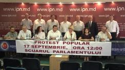 """Conferință de presă organizată de Consiliul Marii Adunări Naționale cu tema """"Cu privire la organizarea protestului popular din 17 septembrie"""""""