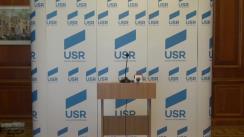 Conferință de presă susținută de viceliderul Grupului parlamentar al USR, Dan Barna