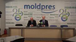 """Conferință de presă susținută de președintele Companiei TV """"Mir"""" și cunoscutul jurnalist rus, Radik Batyrsin"""