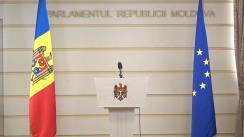 Declarație de presă susținută de Președintele Parlamentului Republicii Moldova, Andrian Candu