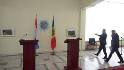 Conferință de presă susținută de Ministrul afacerilor externe și integrării europene, Andrei Galbur, și Ministrul afacerilor externe și europene al Marelui Ducat de Luxemburg, Jean Asselborn