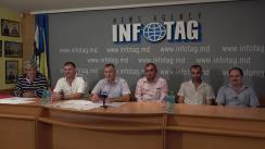 """Conferință de presă susținută de Mișcarea Refugiaților Transnistrieni cu tema """"Replica mișcării refugiaților transnistreni la declarațiile primarului suspendat Dorin Chirtoacă, plasate pe pagina de facebook, referitor la noul dosar penal și refugiații transnistreni"""""""