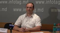"""Conferință de presă cu tema """"Prezentarea aplicației mobile """"DEPORTU.NET"""" pentru dispozitivele de comunicații electronice cu ajutorul căreia cetățenii Moldovei vor putea evita interdicția de intrare în Rusia"""""""