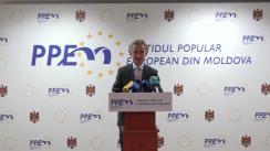 Briefing organizat de Partidul Popular European din Moldova privind nominalizarea candidaturii vicepreședintelui PPEM, Eugen Sturza, la funcția de Ministru al Apărării al Republicii Moldova