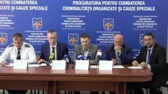"""Conferință de presă organizată de Procuratura pentru combaterea Crimei Organizate și Cauze Speciale cu tema """"Organizarea migrației ilegale a cetățenilor Republicii Moldova în Statul Israel"""""""