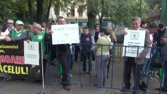 Protest organizat de Partidul Ecologist Român în fața sediului central al PSD