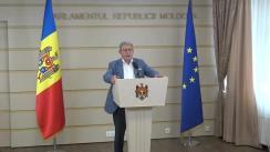 Declarațiile lui Mihai Ghimpu în timpul ședinței Parlamentului din 21 septembrie 2017