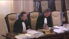 Ședința publică a Curții Constituționale a României din 26 septembrie 2017