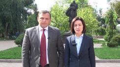 Declarație adresată cetățenilor Republicii Moldova, din partea lui Andrei Năstase și Maia Sandu