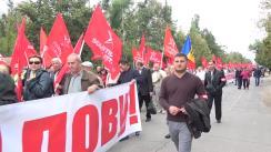 Protest organizat de Partidul Socialiștilor din Republica Moldova la Anenii Noi