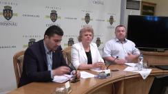"""Briefing organizat de consilierii municipali ai PSRM cu tema """"Zeci de milioane de lei, care nu ajung în bugetul municipal al capitalei"""""""