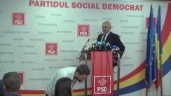 Conferință de presă după ședința Biroului Permanent Național al PSD din 25 septembrie 2017