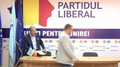 """Conferință de presă susținută de conducerea Partidului Liberal cu tema """"Poziția Partidului Liberal față de Referendumul din Chișinău, inițiat de socialiști"""""""