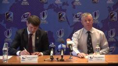 Conferință de presă organizată de Ministerul Educației, Culturii și Cercetării cu privire la perspectivele Federației de Rugby din Republica Moldova în ciclul olimpic 2017-2020