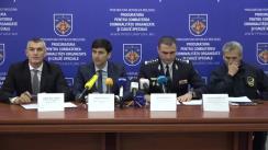 """Conferință de presă organizată de Procuratura pentru Combaterea Criminalității Organizate și Cauze Speciale cu tema """"Deconspirarea și reținerea membrilor organizației criminale """"BORMAN"""""""