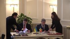 Conferință de presă susținută de Prim-ministrul Republicii Moldova, Pavel Filip, și Prim-ministrul Ucrainei, Volodimir Groisman
