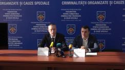 """Conferință de presă organizată de Procuratura pentru Combaterea Criminalității Organizate și Cauze Speciale cu tema """"Deconspirarea și anihilarea unei grupări infracționale specializate în contrabandă cu mărfuri de larg consum, introduse în țară prin regiunea transnistreană"""""""