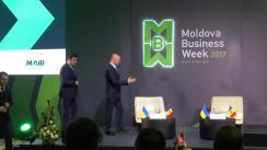"""Participarea Prim-ministrului Republicii Moldova, Pavel Filip, și a Prim-ministrului Ucrainei, Volodimir Groisman, la închiderea Forumului """"Moldova Business Week 2017"""""""