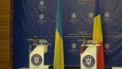 Conferință comună de presă susținută de Ministrul Afacerilor Externe al României, Teodor Meleșcanu, și Ministrul Afacerilor Externe al Ucrainei, Pavlo Klimkin
