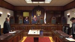 Pronunțarea dispozitivului hotărârii de interpretare a unor prevederi ale articolelor 98 alin. (6) din Constituția Republicii Moldova