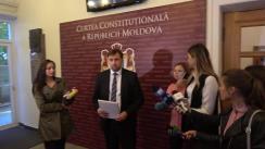 Declarațiile lui Maxim Lebedinschi după pronunțarea dispozitivului hotărârii de interpretare a unor prevederi ale articolelor 98 alin. (6) din Constituția Republicii Moldova