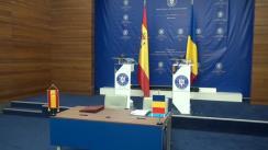 Conferință de presă susținută de ministrul Afacerilor Externe al României, Teodor Meleșcanu, și ministrul Afacerilor Externe și Cooperării al Spaniei, Alfonso María Dastis Quecedo