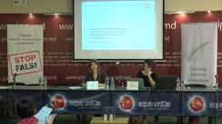 """Conferință de presă organizată de Centrul pentru Jurnalism Independent cu tema """"Elemente de propagandă, manipulare informațională și încălcare a normelor deontologiei jurnalistice în spațiul mediatic autohton"""" (1 august  2017 - 1 octombrie 2017)"""