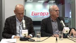 Liderii sindicali Dumitru Costin și Iulian Măntescu răspund întrebărilor  la Interviurile Europa FM