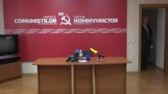 """Briefing susținut de președintele PCRM, Vladimir Voronin, cu tema """"Evenimente organizate cu ocazia aniversării a 100 de ani de la Marea Revoluție Socialistă din Octombrie"""""""