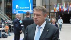 Declarație susținută de Președintele României,Klaus Iohannis, la finalul participării la Consiliul European