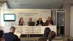 """Ședința Clubului Jurnaliștilor de Investigație la tema """"Fenomentul traficului de persoane: cum relatăm corect despre victime și traficanți"""""""