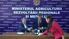 Conferință de presă susținută de Ministrul Agriculturii, Dezvoltării Regionale și Mediului, Vasile Bîtca, cu referire la Ziua Națională de Înverzire a Plaiului