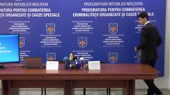 """Conferință de presă organizată de PCCOCS cu tema """"Finalizarea urmăririi penale și transmiterea în judecată a cauzei penale privind învinuirea a 7 persoane în pregătirea omorului asupra cetățeanului Vladimir Plahotniuc"""""""